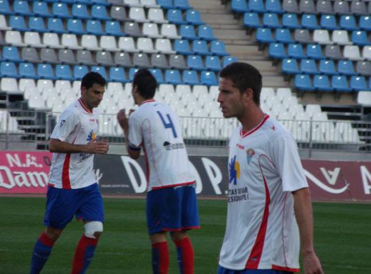 Imagen del CD Roquetas en un partido de liga