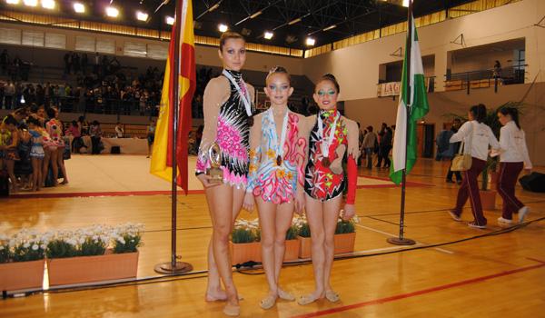 Gimnastas del club de gimnasia Ciudad de El Ejido