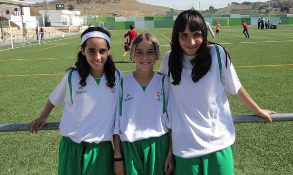 Jugadoras almerienses con la selección andaluza sub 12