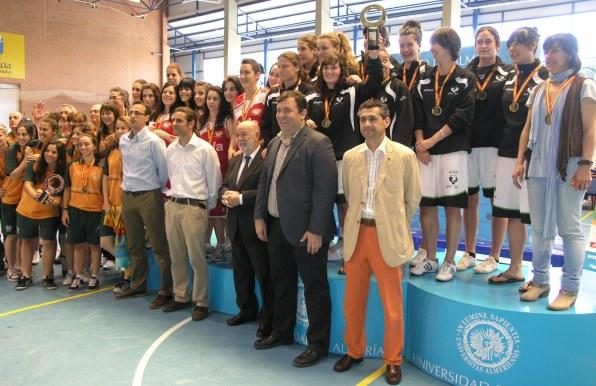 Ganadoras del Campeonato de España Universitario de Baloncesto celebrado en la Ual