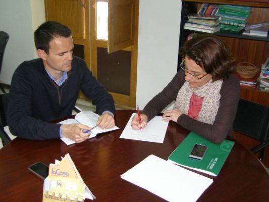 Reunión de la delegada con alcalde de Purchena