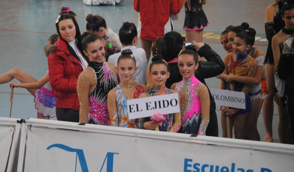 Gimnastas de El Ejido en Málaga