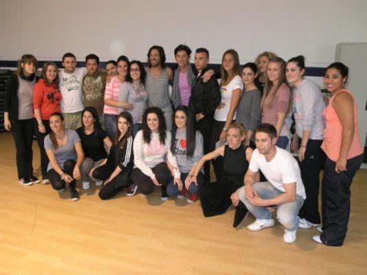 Rafael Amargo y los alumnos del curso