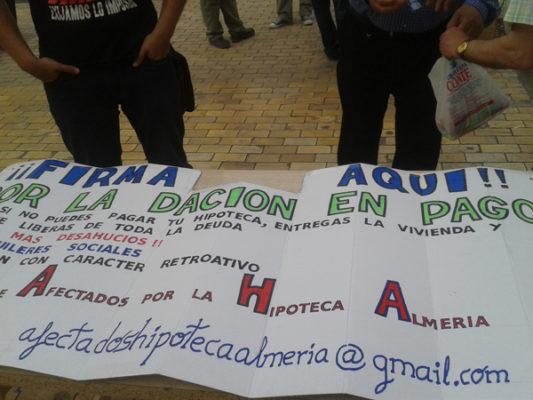 La dación en pago fue una de las peticiones del domingo en Almería