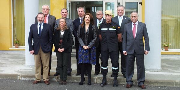 Reunión en la Unidad Militar de Emergencias Andalucía