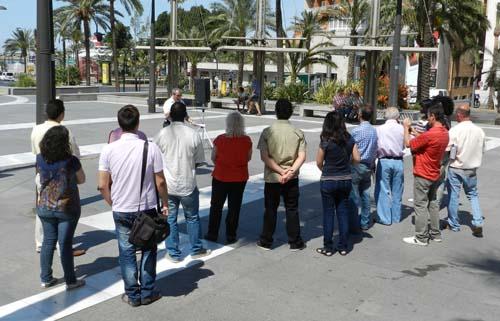 En la lectura del manifiesto de la FAO en Almería por el Cuerno de África no ha habido un gran número de asistentes