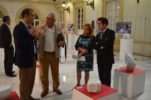 Exposición con las obras de la IV Semana de Escultura Rural en Mármol