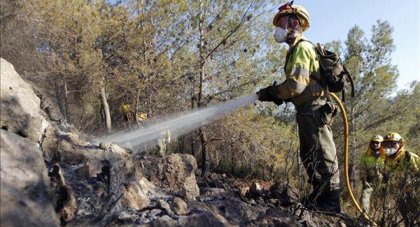 Fuego en sierra de Almagro