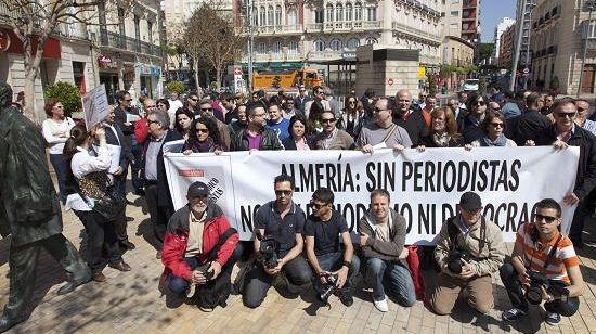 Periodistas de Almería se movilizarán contra la 'ley mordaza'