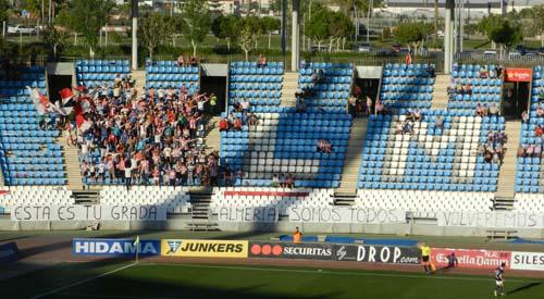 La Grada Joven es la peña más ruidosa y numerosa de la UD Almería, en Primera y en Segunda