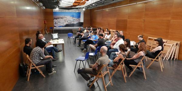 La Asociación SOS Patrimonio ha hecho una rueda de prensa-asamblea en la Carpa Juan Goytisolo