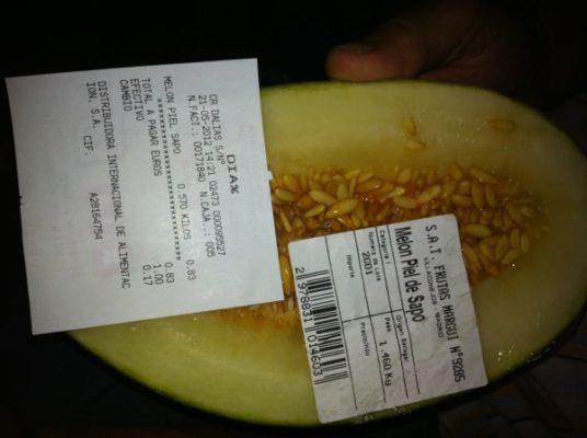 Melón Senegal con ticket de compra