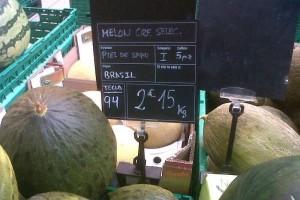 Melones y sandías de Brasil