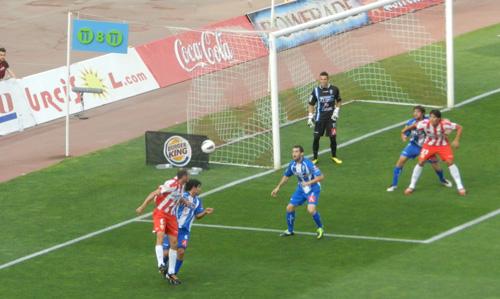 La estrategia del 'Boquerón' Esteban sirvió a la UD Almería para marcar al CD Alcoyano