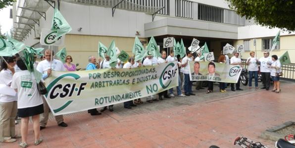 La Central Sindical Independiente de Funcionarios sigue adelante con su calendario de movilizaciones en Almería ante los recortes