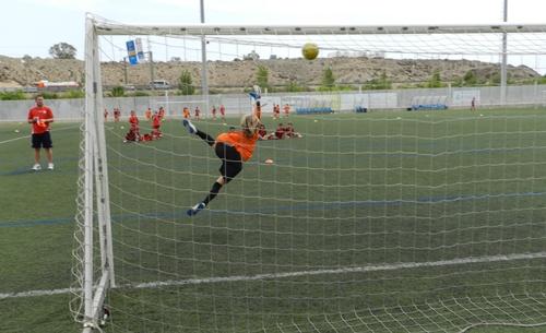 Muy pocos chavales se han inscrito como porteros en el Campus de la UD Almería, algo lógico por otro lado