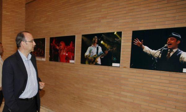 El alcalde inaugura exposicion 20 aniversario Auditorio