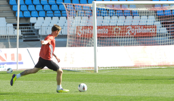 El danés de la UD Almería, Michael Jokoben, ha conseguido demostrar su valía en la Liga Adelante