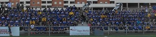 Vista panorámica de los componentes de todos los equipos del Polideportivo Aguadulce durante esta temporada 2011/12