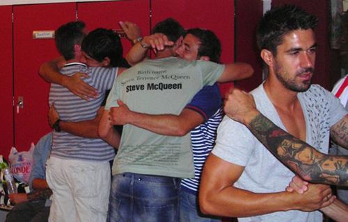 La despedida de los jugadores de la UD Almería ha sido muy emotiva dentro del vestuario