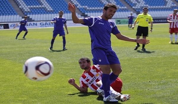 La pasada temporada Joselu jugó con el Jaén contra el Almería B en Segunda División B