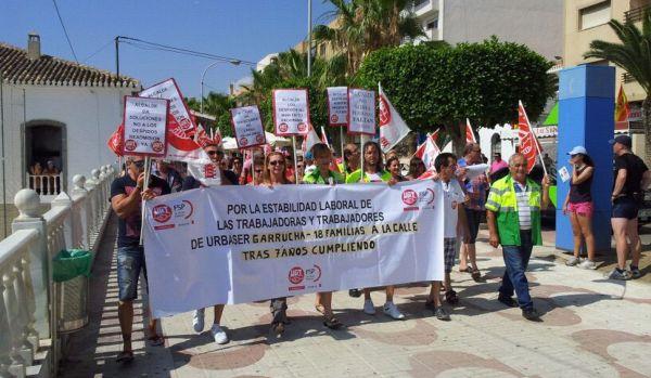 Manifestaci n en garrucha contra los 18 despidos de - Trabajo en garrucha ...