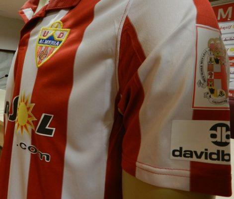 Las equipaciones Nike de la UD Almería portarán el nombre y el logotipo de David Bisbal en su manga izquierda