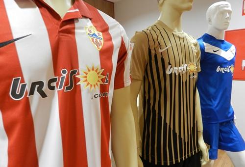 Las camisetas de la UD Almería en la próxima Liga Adelante ya han sido presentadas