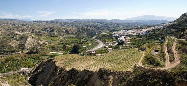 Instinción (desde camino a Barriada de Alcora) ; Río Andarax ; Almería