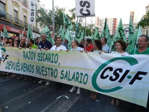 Convocaron UGT y CCOO, pero se sumó CSIF a la manifestación contra los recortes