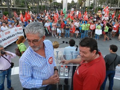 La Plaza de las Velas de Almería fue el lugar elegido para pronunciar los discursos sindicalistas