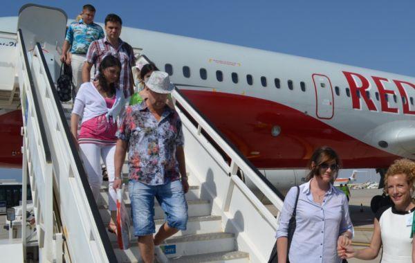 Turistas rusos