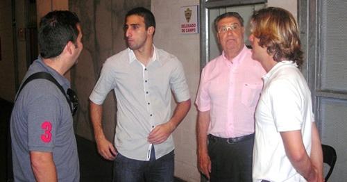 Hernán Pellerano tiene muy buenas amistades en el Almería y en Almería