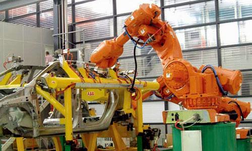 robótica uso industrial