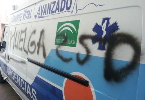 Ambulancias en huelga