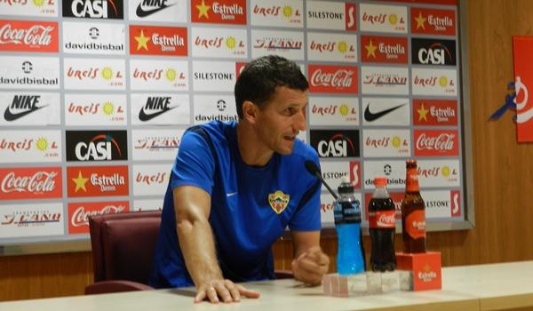 El entrenador de la UD Almería ha analizado la Copa del Rey ante el Real Murcia