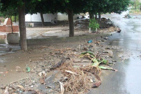 destrozos por la lluvia