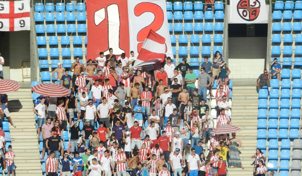 La peña de aficionados de la UD Almería de menor edad es la más animosa del Mediterráneo