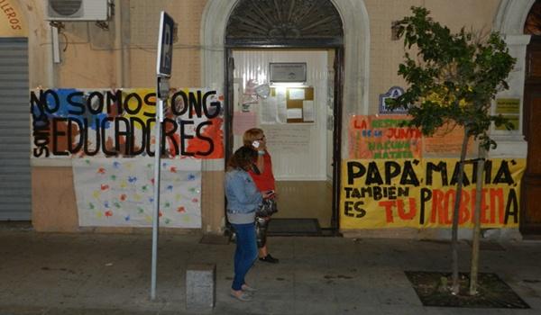 Las guarderías están en pie de guerra en Almería y los empresarios se encierran en El Trampolín