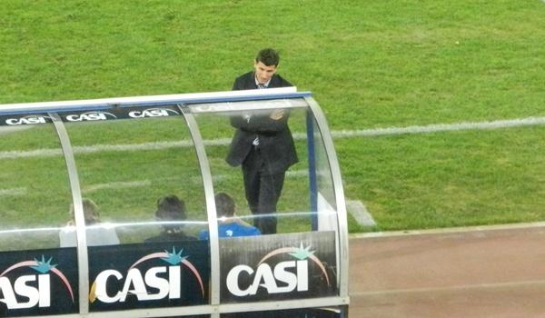 El míster de la UD Almería no quedó nada contento con lo visto por su equipo en el partido