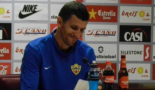 El míster de la UD Almería ha hablado antes del Celta de Copa del Rey