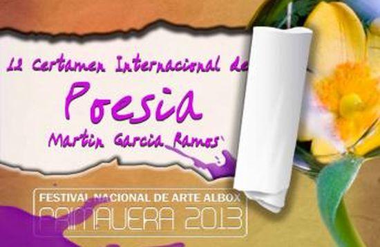 Cartel 2013 - certamen de poesía. (1)