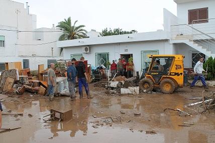 Daños del temporal en Pulpí