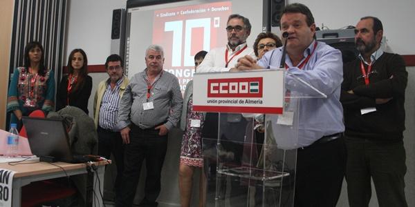 Juan Pallarés ha sido reelegido como secretario general de CCOO Almería por tercera vez