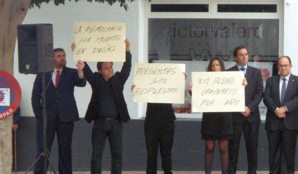 Dalías protesta PSOE