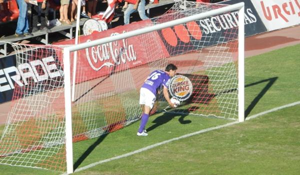 Goleada en el estadio del Mediterráneo en la primera vuelta de la Liga Adelante