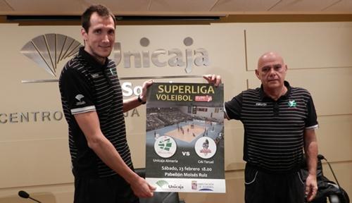 Unicaja Almería y los de Novillo juegan el mejor partido de la Superliga de voleibol en España