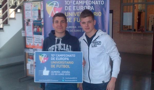Campeonato europeo de fútbol universitario en Almería