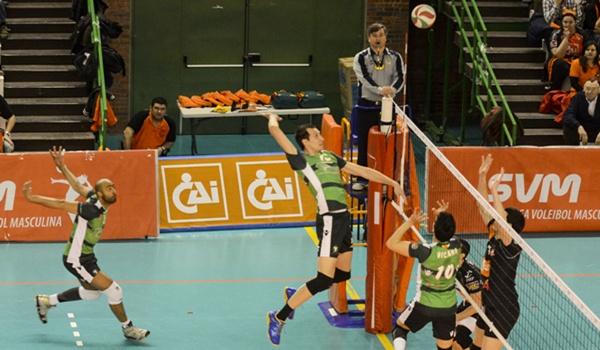 Unicaja Almería de Voleibol en la final de la Superliga ante CAI Teruel