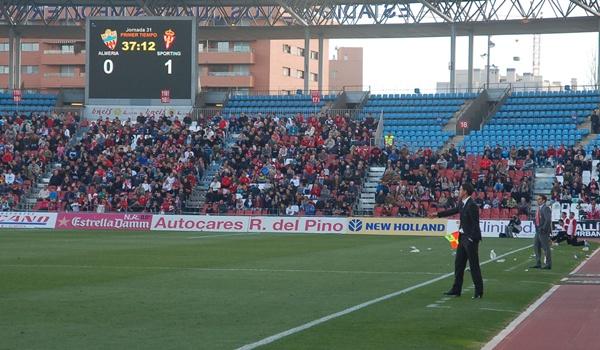 El Almería y el Sporting han jugado un partido desigual en esta Liga Adelante